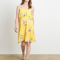 Floral Ruffle Maternity & Nursing Dress