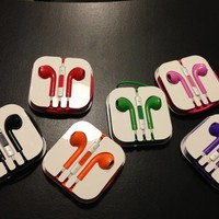 Colorful Purple In Ear Headphones with Remote for iPhone 5 [3317]