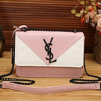 YSL Women Fashion Leather Satchel Shoulder Bag Crossbody