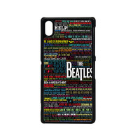 the beatles typography song lyric Sony Xperia Z2 Case