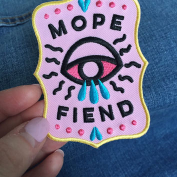 Mope Fiend embroidered patch