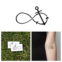 Infinity Anchor - Temporary Tattoo (Set of 2)