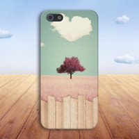 Heart Cloud x Pink Grass x Cartoon Case for iPhone 6 6+ iPhone 5 5s 5c iPhone 4 4s and Samsung Galaxy s5 s4 & s3