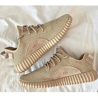 """Adidas"" Yeezy Boost Women Men Sneakers Running Sports Shoes Khaki"