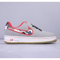 Nike Air Force 1 Fashion New Camouflage Hook Sports Leisure Shoes Gray