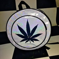 SWEET LORD O'MIGHTY! WEED HOLOGRAM BACKPACK