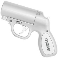 Mace® Pepper Gun Silver, Sprays from any Angle up to 25', Trigger Activated LED for Better Aim