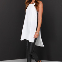 State Of Lux Black and Ivory Tunic