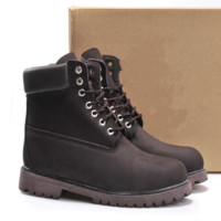 Timberland Rhubarb boots for men and women shoes waterproof Martin boots lovers Coffee
