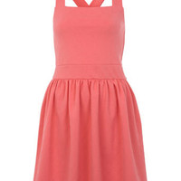 Coral Rose Textured Dress - Dresses  - Apparel