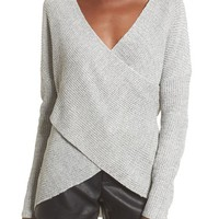 ASTR the Label Wrap Front Sweater | Nordstrom