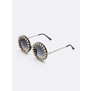 Spiky Round Sunglasses