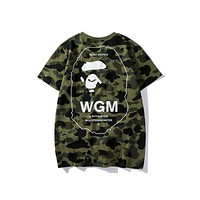 Bape 2018 summer new style street fashion WGM camouflage T-shirt F-CP-ZDL-YXC Green
