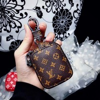 INSPIRED DESIGNER Brown Mini Monogram Airpods Pouch