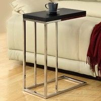 Monarch Rectangular Chrome Metal Accent Table - Cappuccino | www.hayneedle.com