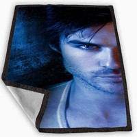 Damon Salvatore The Vampire Diaries Blanket for Kids Blanket, Fleece Blanket Cute and Awesome Blanket for your bedding, Blanket fleece **