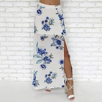 Charmed Life Floral Maxi Skirt