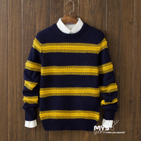 Casual Mens Comfortable Winter Warm Slim Fit Round Collar Long Sleeve Sweater
