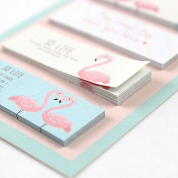 Kawaii Cactus Flamingo Planner Markers, Cute Sticky Notes, School Supplies