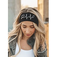 A Nurse's Heartbeat Antimicrobial Yoga Headband