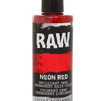 RAW Neon Red Demi-Permanent Hair Color | Hot Topic