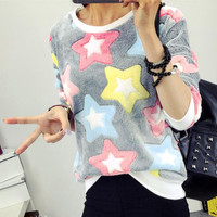 Women Outwear Floral Tracksuit Sweatshirt Fashion Vogue Adorable Lady Tee Top Blouse Jumpers Pullovers S/M/L/XL