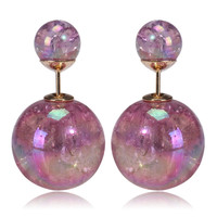 Mise en Gum Tee Style Tribal Earrings  - Galaxy Pink