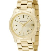 Michael Kors Women's Slim Runway Gold-Tone Stainless Steel Bracelet Watch 42mm MK3179 | macys.com