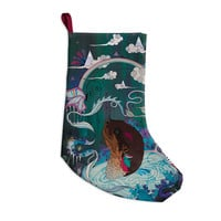 """Mat Miller """"Delicate Distraction"""" Otter Teal Christmas Stocking"""