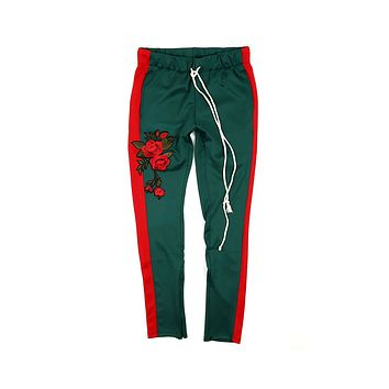 EPTM Men's Red Striped Track Pants Green Red