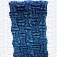 Denim and Navy Blue Ribbed Stitch Scarf   Cathy Creates - Handmade knit and crochet accessories and apparel