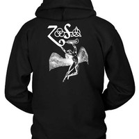PEAPH9S Led Zeppelin Icarus Funny Zoso Hoodie Two Sided