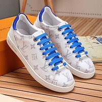 Louis Vuitton LV New full printed letters ladies casual sneakers