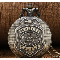 Men's Police Pocket Watch