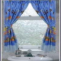 Tropical Sea Fabric Bathroom Window Curtain