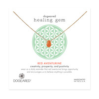 healing gem red aventurine necklace, gold dipped - Dogeared