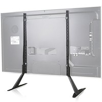 WALI Universal TV Stand Table Top for Most 22 to 65 inch LCD Flat Screen TV, VESA up to 800 by 400mm , Black 22 - 65 inch