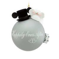 disney parks wedding happily ever after mickey minnie ball ornament new with tags