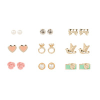 The Picture of Romance Stud Earrings Set of 9