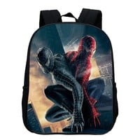 2017 New Style Oxford 12 Inches Printing Hero Spiderman Kids School Bags Cartoon Baby Boys Small Backpack for Children SchoolBag