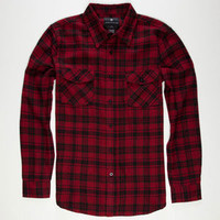 Shouthouse Parkman Mens Flannel Shirt Burgundy  In Sizes