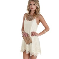 Sale- Ivory Good Feeling Crochet Tunic