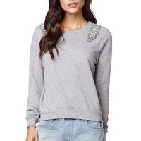 Billabong Sweet Song Crew Fleece - Womens Hoodie - Gray