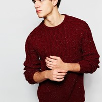 ASOS Cable Knit Jumper with Nepp