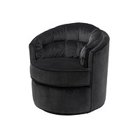 Black Round Deep Lounge Chair | Eichholtz Recla
