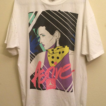 Active The Brand of the 1980s Duran Duran Style New Romantic Fashion Woman Look XL Vintage T shirt