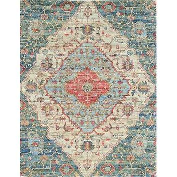 3' x 5' Jute Blue or Red Area Rug