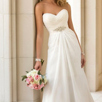 Vestidos De Novia Sexy Chiffon Beach Wedding Dress W344