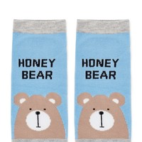 Honey Bear Graphic Ankle Socks