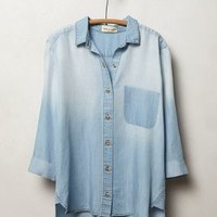 Shadow Pocket Chambray Buttondown by Cloth & Stone Light Denim
